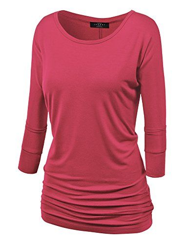 News MBJ Womens 3/4 Sleeve Drape Top XL CORAL   buy now     $26.93 This tunic will become your Weekend Warrior top, a running around doing errands to casual dinner ala fresco to Sunday brunch. ... http://showbizlikes.com/mbj-womens-34-sleeve-drape-top-xl-coral/