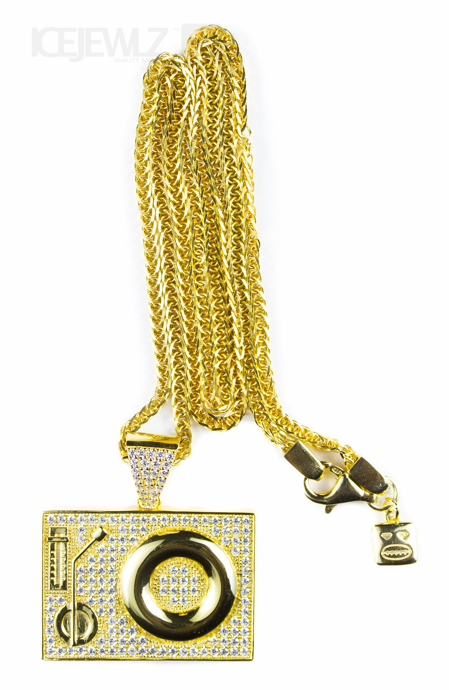25bd6e919b9bb DJ Deck Micro Pendant (Gold Plate) with Chain in 2019   Gold plate ...