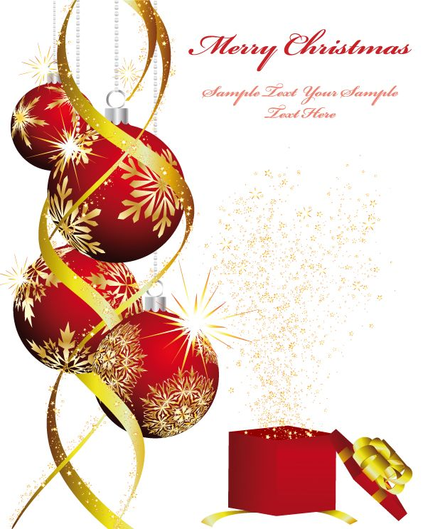 Free Vector Christmas Ornaments Beautiful Background Graphic Available For Download At 4vector