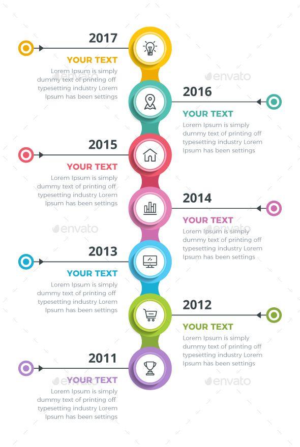 Modern Timeline Infographics | Línea del tiempo, Planificación ...