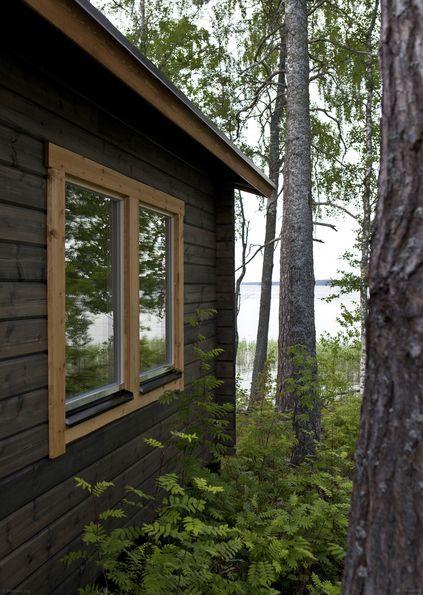 Saunamökki järven rannalla | Asuinrakennukset - Tikkurila Oyj | Kotimaalarit | Ideat