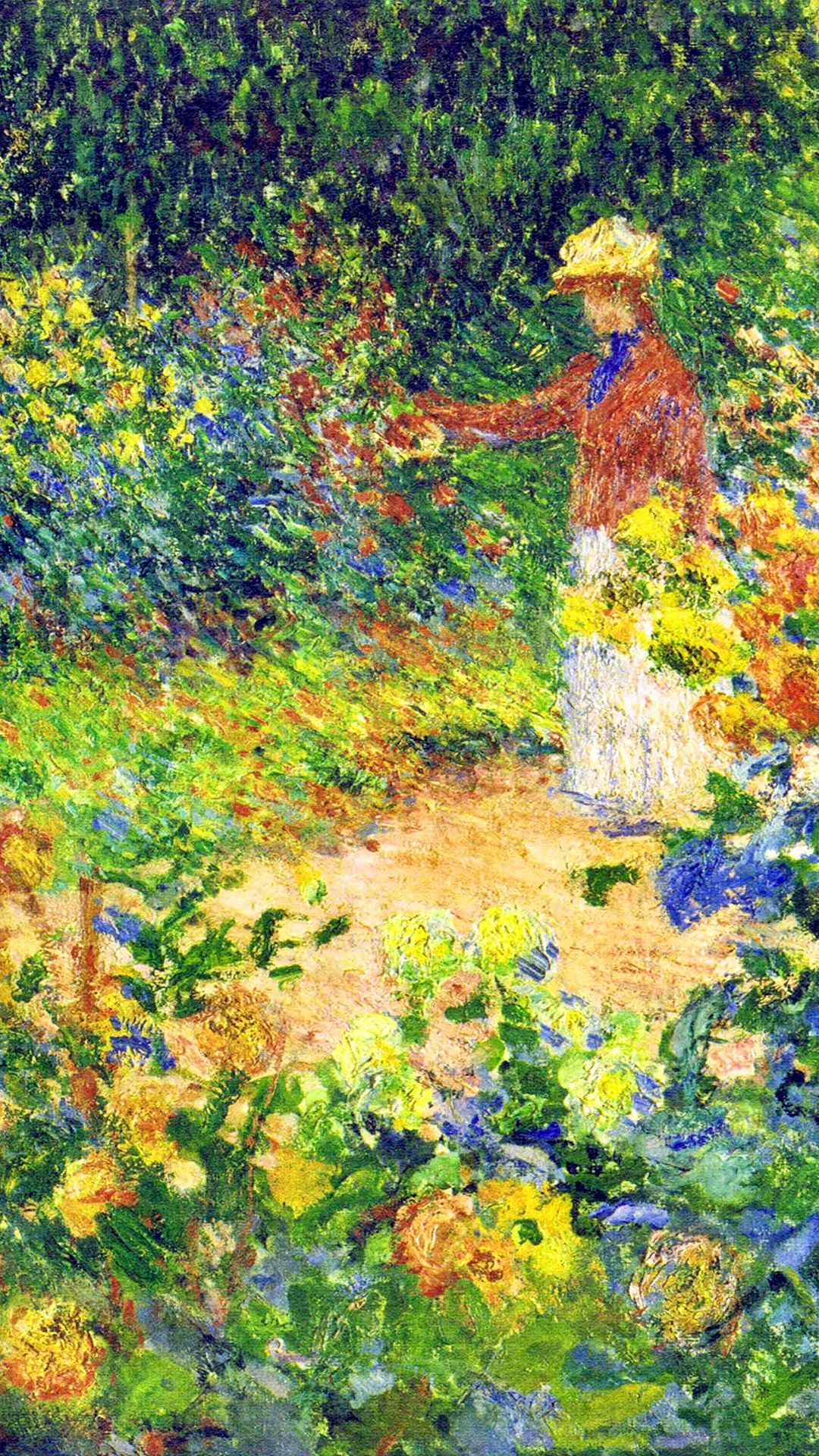 Claude garden at giverny 1895 detail