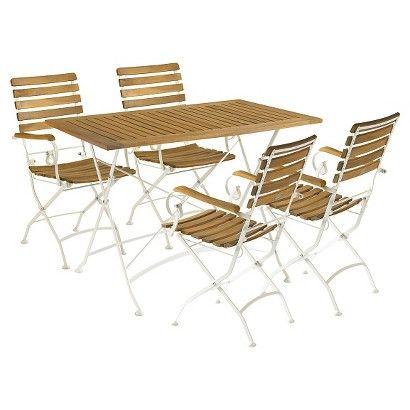 safavieh mondello wood 5 piece patio dining set outdoor furniture rh pinterest cl