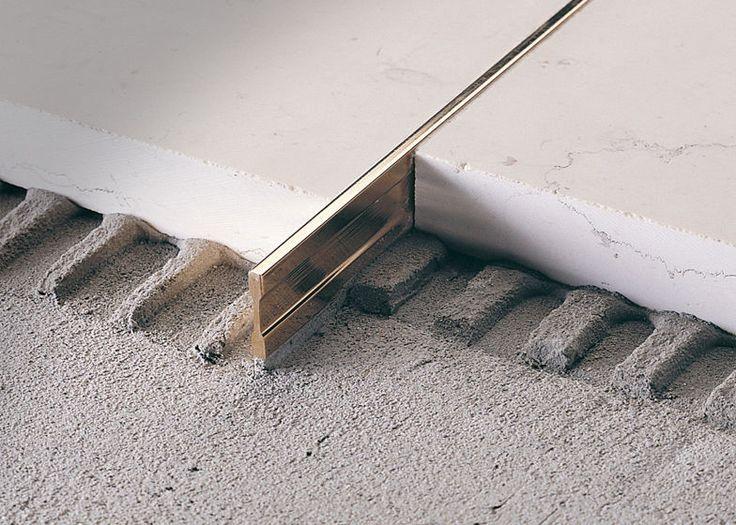 Brass edge trim for tiles linetec pt profilitec miles for Floor edge trim
