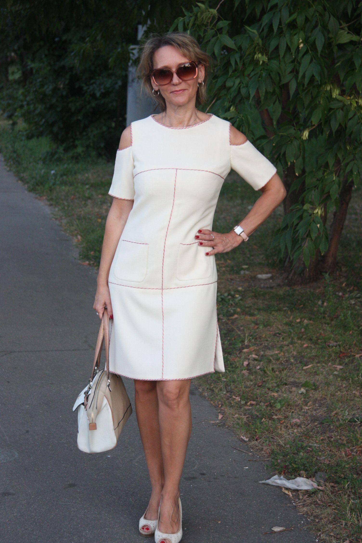 Chanel платье белое