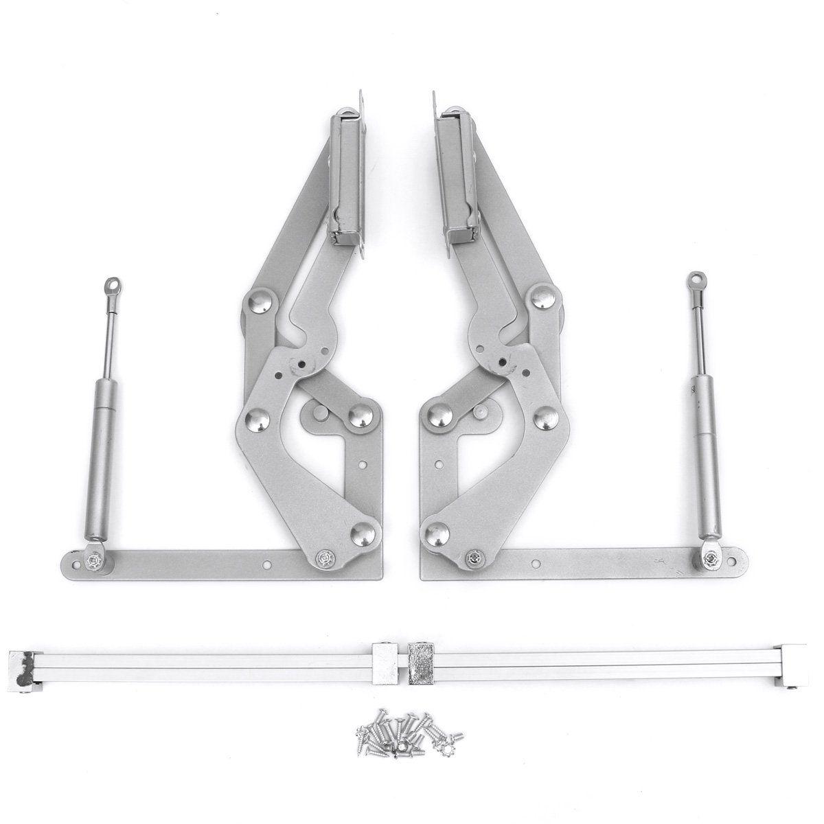 Arm Mechanism Hinges Vertical Swing Lift Up Stay Pneumatic For Cabinet Door Puerta De Gabinete Muebles De Tarima De Madera Muebles Con Tarimas
