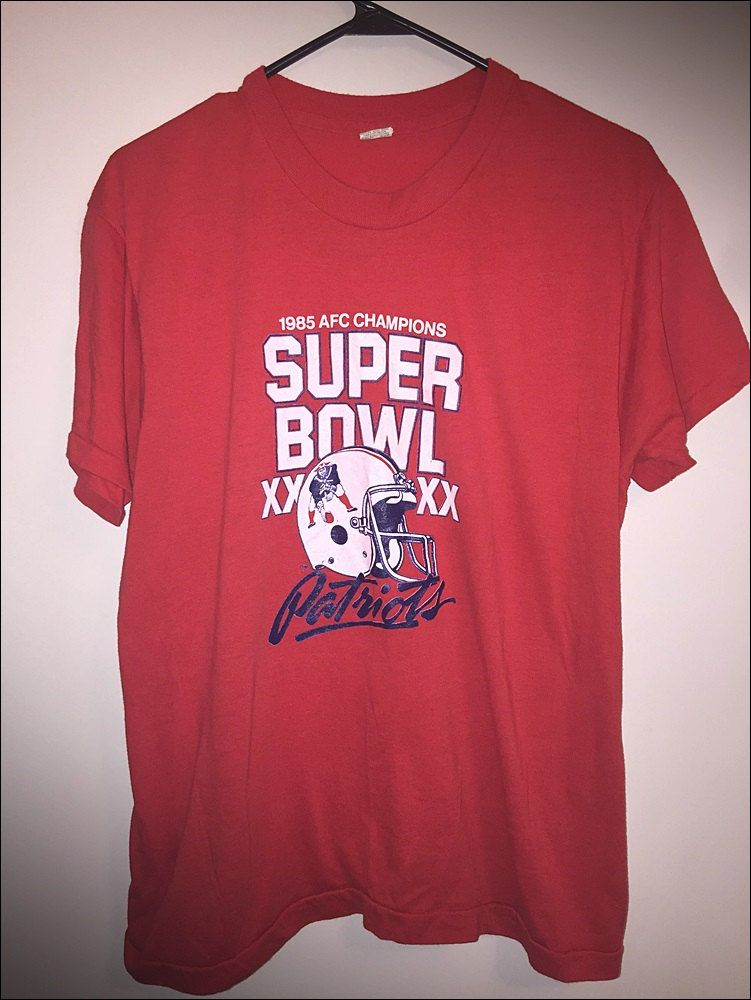 Vintage 80 s NFL Super Bowl XX 20 New England Patriots Shirt - Size Adult  XL by 0b2655b57