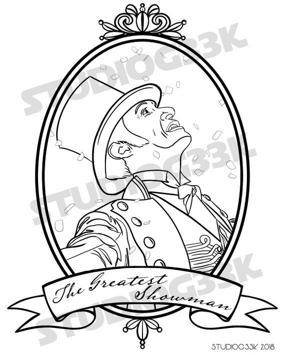 digital the greatest showman printable coloring sheet in ...
