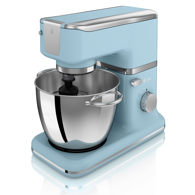 Swan Retro Stand Mixer & Bowl Blue Kitchen