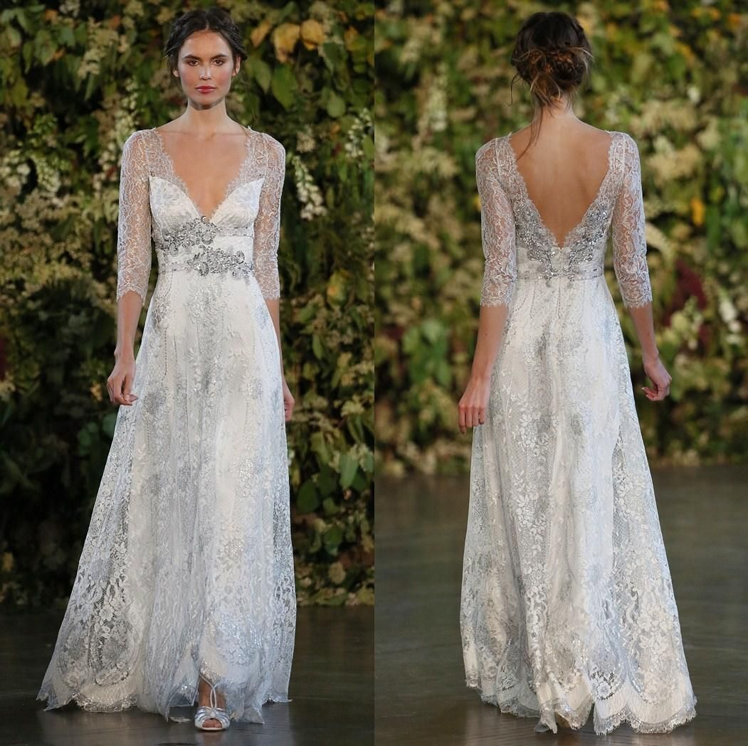 Wholesale vintage a line wedding dresses wedding dresses for Silver wedding dresses for sale