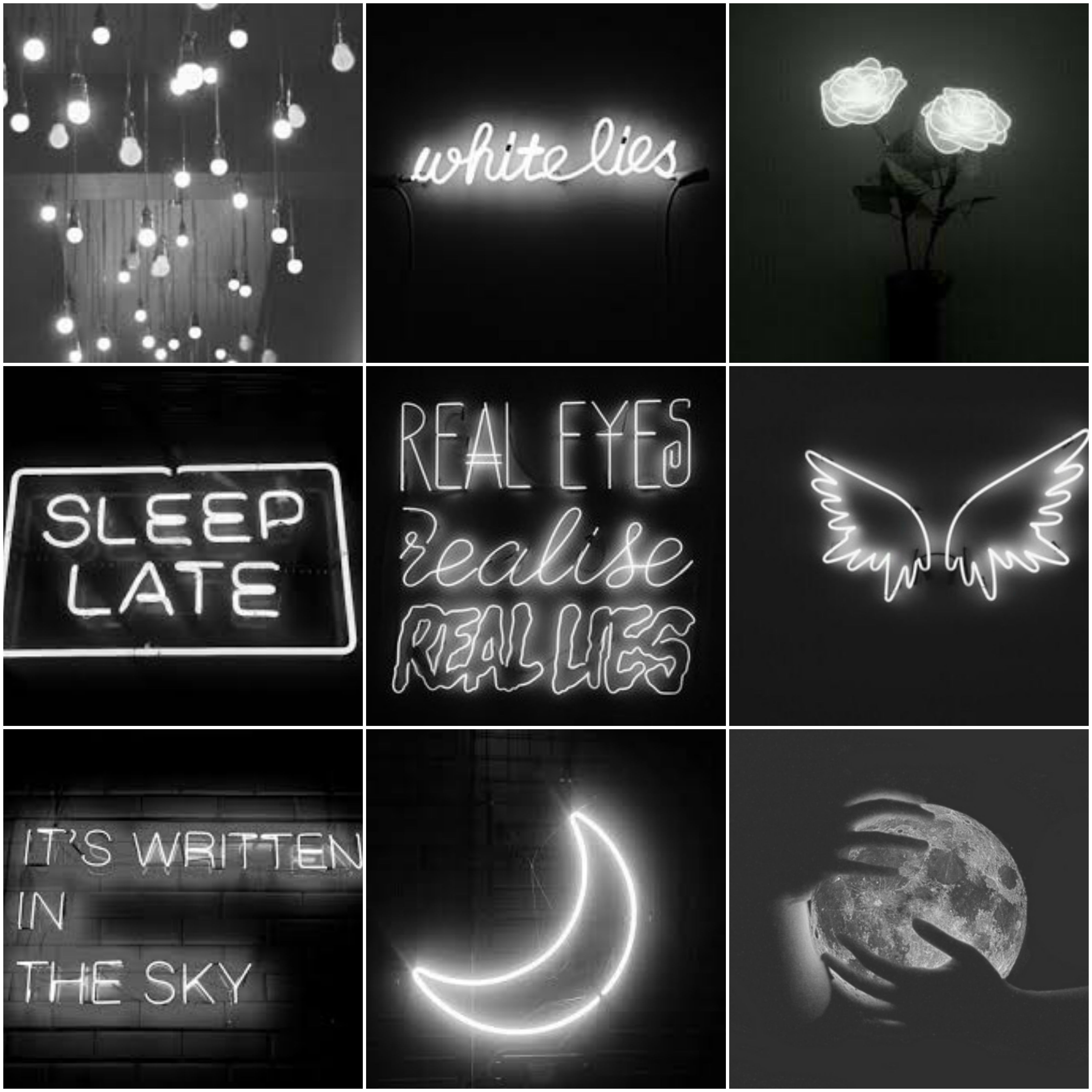 Black And White Neon Aesthetic I Made It Neon Aesthetic Aesthetic Black And White