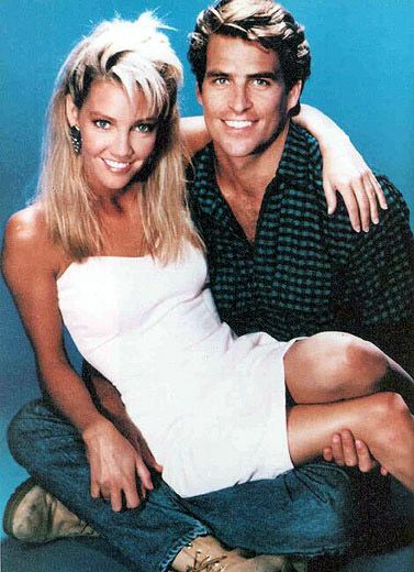 Heather Locklear and Ted McGinley as Sammy Jo and Clay Fallmont...only in the 80s, people, LOL