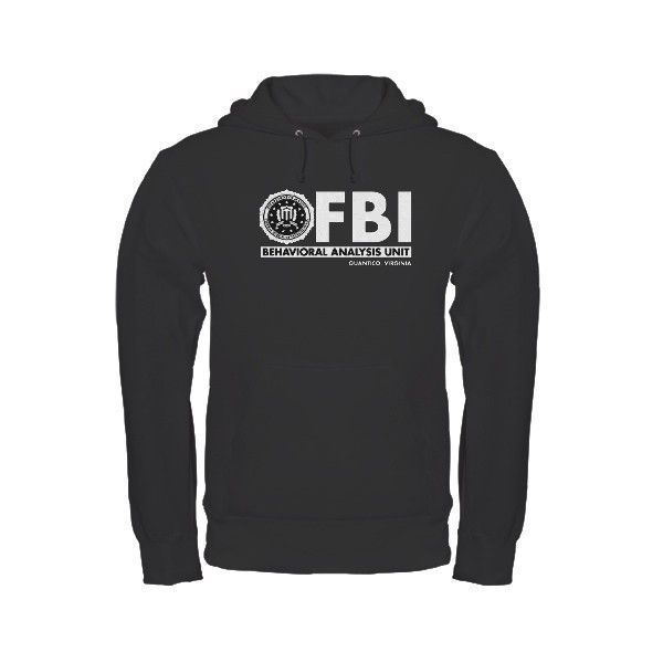 79537fb2 FBI BAU (Criminal Minds) Hoodie (dark) - CafePress United Kingdom ($35) ❤  liked on Polyvore featuring tops, hoodies, hooded sweatshirt, sweatshirt  hoodies, ...