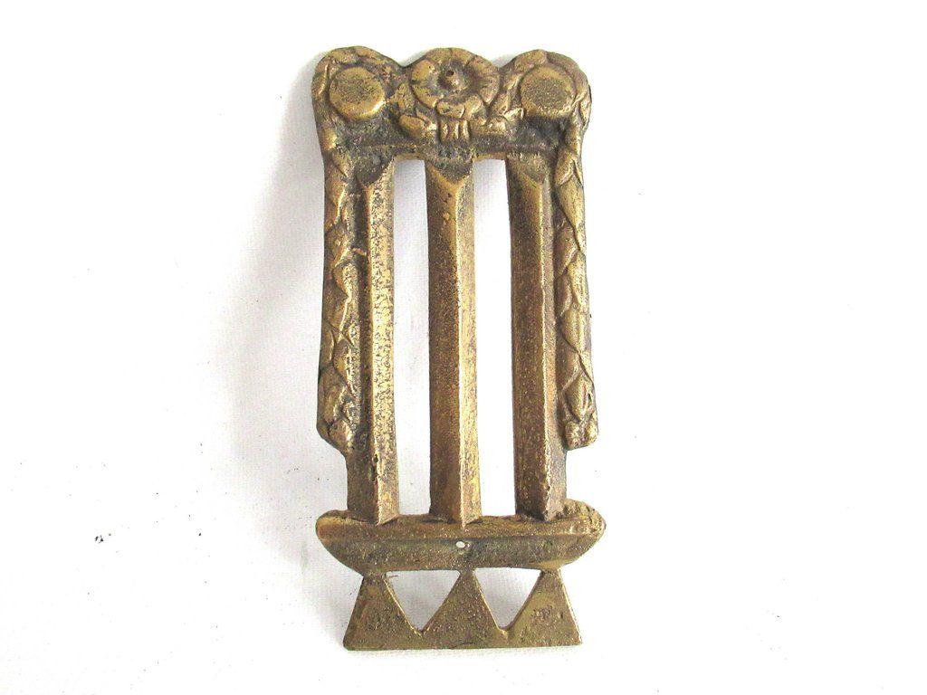 1 (ONE) Antique Brass Furniture Applique. Empire embellishment. Authentic  hardware, restoration - 1 (ONE) Antique Brass Furniture Applique. Empire Embellishment