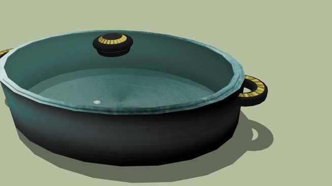 Large preview of 3D Model of cooking pot