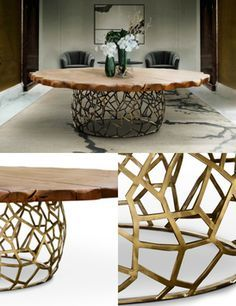 modernes mobel design, messing esstische | kunst möbel | designer möbel | messing, Design ideen