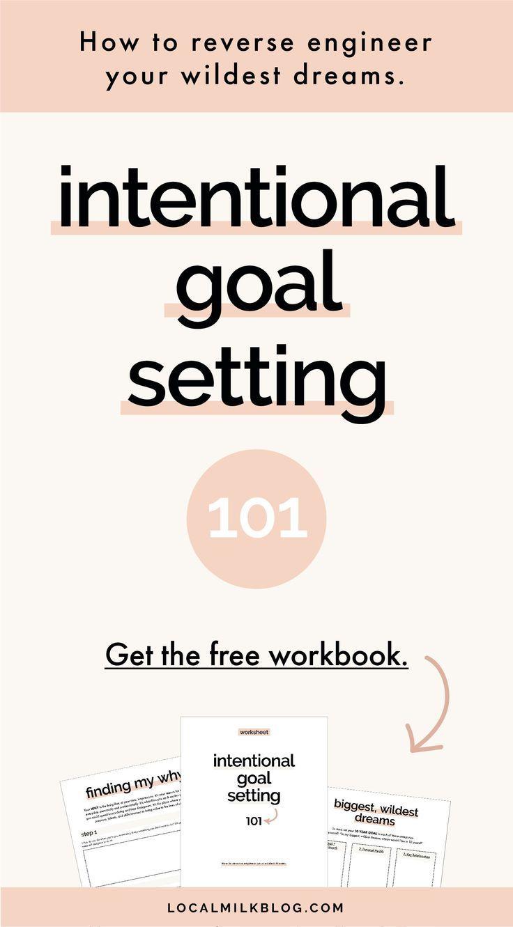 Printable Mindful, Intentional Goal Setting Worksheet