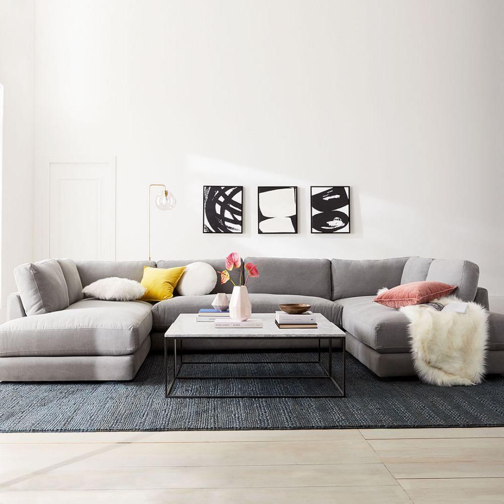Urban Sofa 84 5 Quot U Shaped Sectional U Shaped Couch