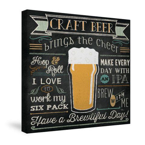 Be Hoppy I Creative Art Canvas Beer Chalkboard Art Beer Chalkboard Beer Art