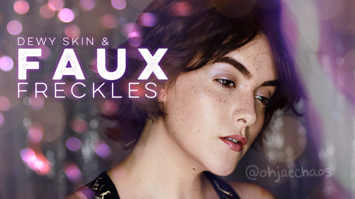 NO MAKEUP MAKEUP LOOK + How to do Faux Freckles Tutorial