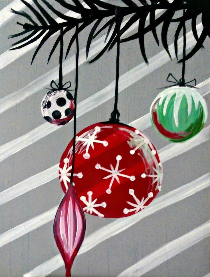 Image result for christmas easy acrylic painting ideas for