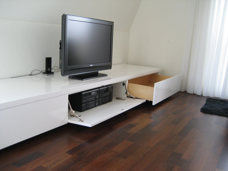 Lowboard Zwevend Affordable Dressoir Bruinwit Sideboard