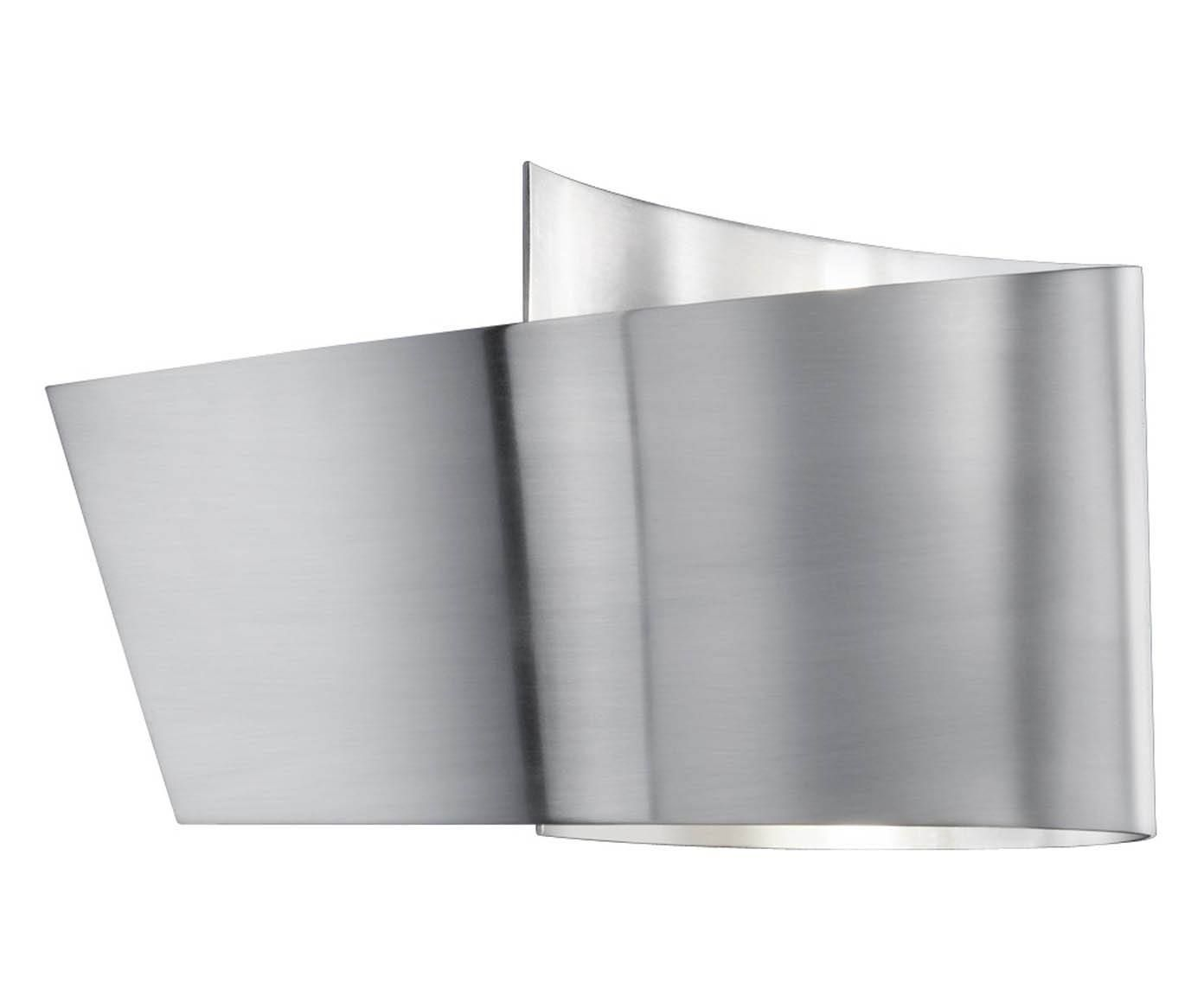 Applique a led in metallo virgola nichel opaco 20x12x9 cm dalani