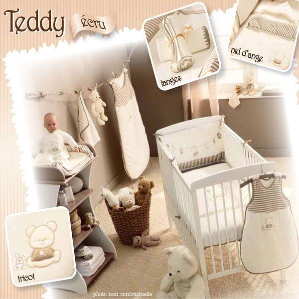 Collection Teddy écru de P'tit Basile pour une chambre bébé thème ourson