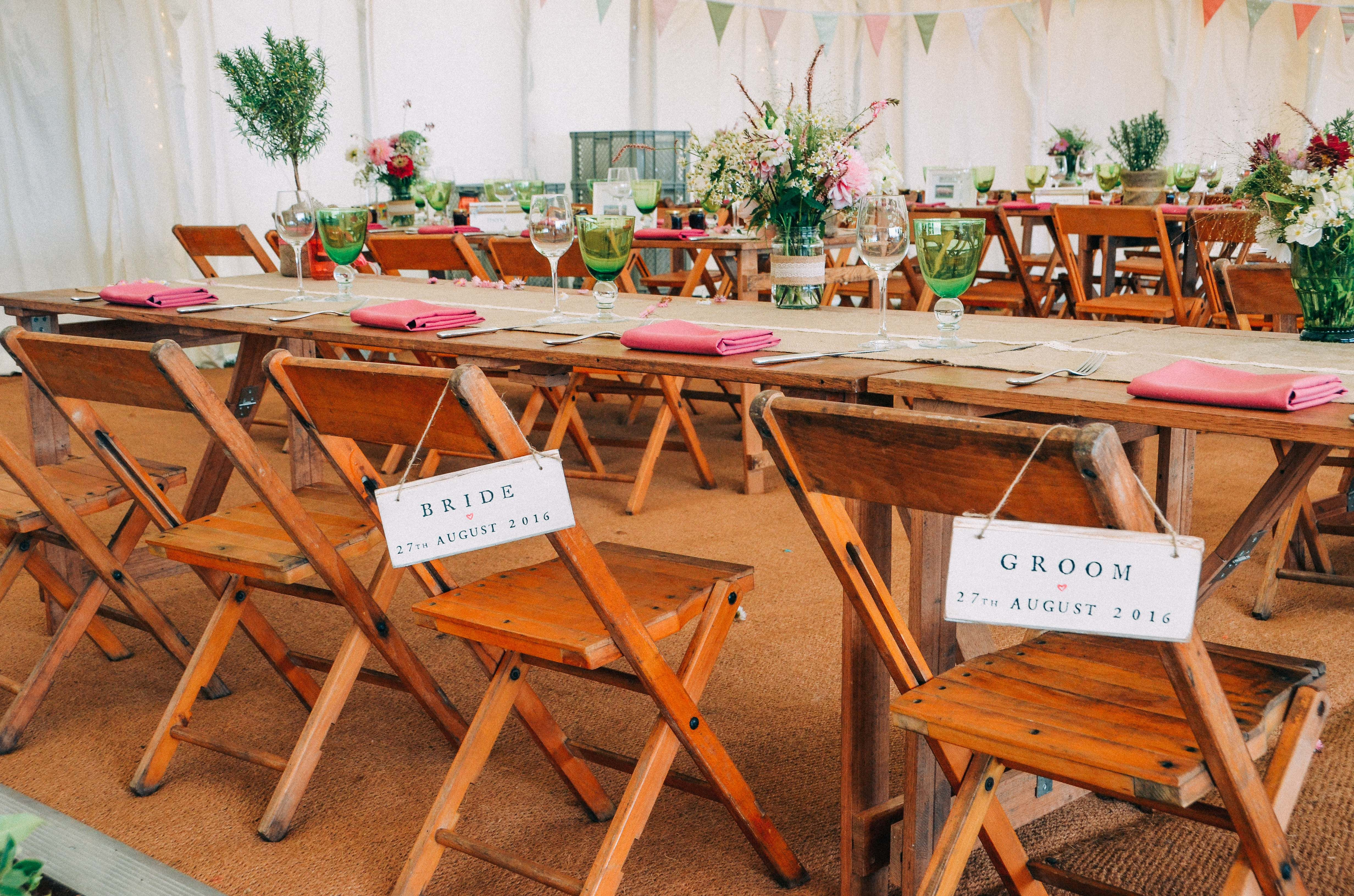 Rustic Hire Wedding 2017 Tables Chairs Rustic Wooden