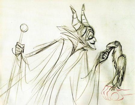 Maleficent concept art   Sleeping Beauty, 1959
