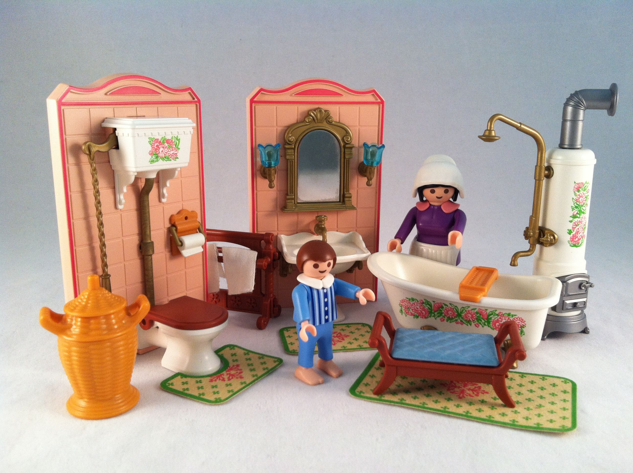 Playmobil Dollhaus Badezimmer Playmobil Victorian Mansion Bathroom Vintage Early 1990 S Set