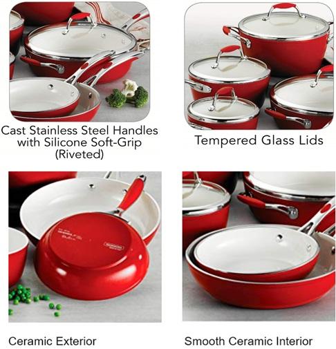 Tramontina Gourmet Ceramic Deluxe Cookware Ceramics Ceramiccookware Nonstickcookware Nonstick Cookwarejudg Ceramic Cookware Set Ceramic Cookware Ceramics