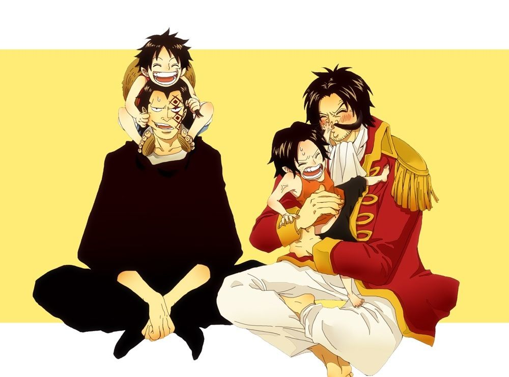 Luffy, Ace, Gold D. Roger and Monkey D. Dragon #one piece ...