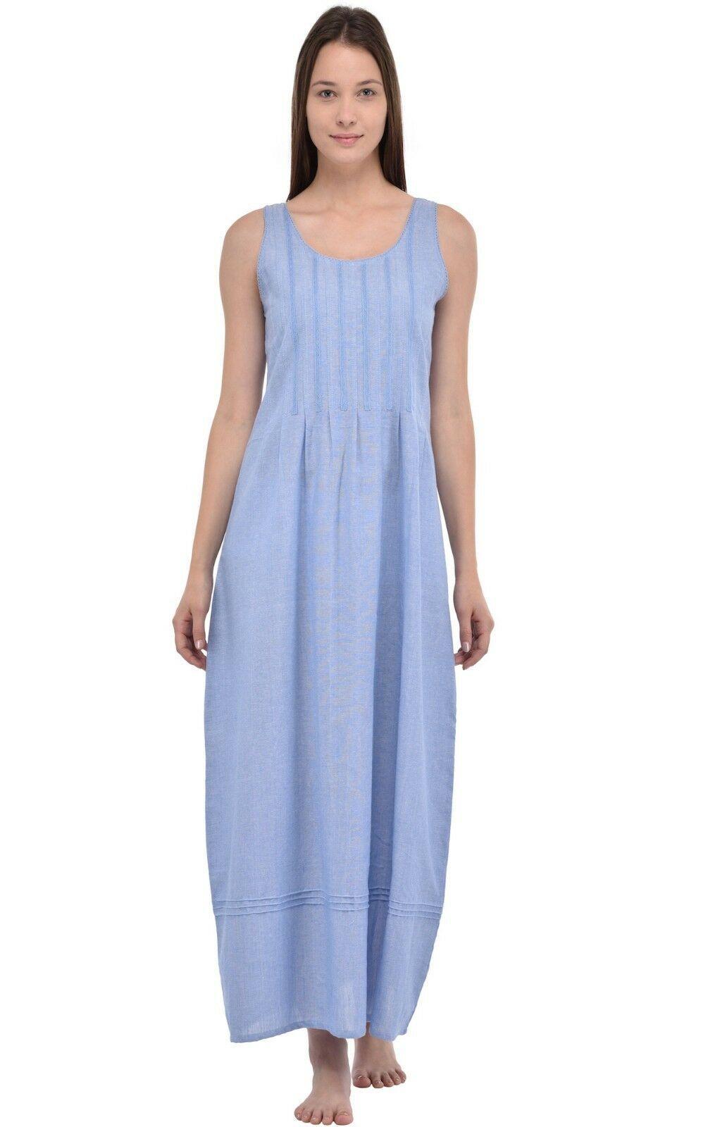 Cotton Lane Chambray Cotton Vintage Nightdress//Dress