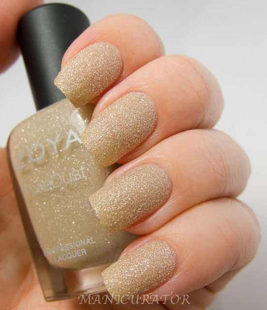 Godiva - nude linen - sparkling matte textured color from the Zoya PixieDust collection. http://www.zoya.com/content/38/item/Zoya/Zoya-Nail-Polish-Godiva-ZP658.html
