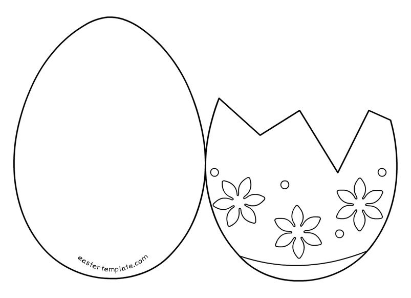image about Easter Egg Template Printable titled easter-egg-card-templates sbook Egg card, Easter