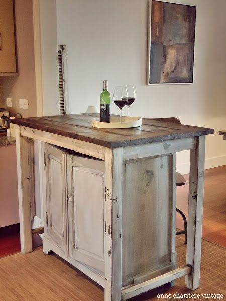 Una impresionante isla para la cocina | Isla cocina, Vigas de madera ...