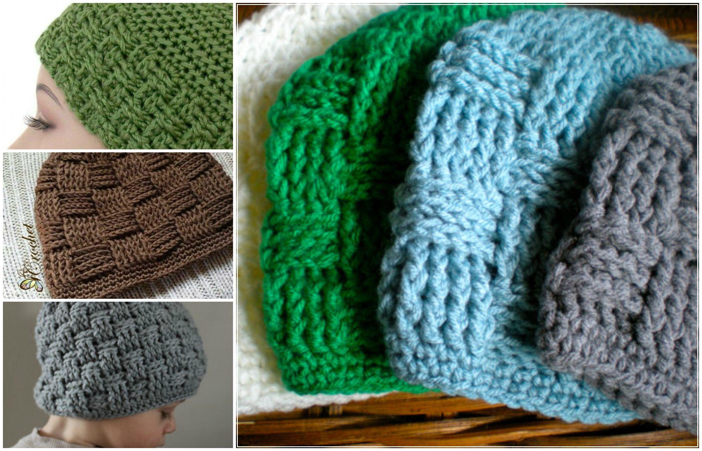 How To Crochet Basketweave Beanie | crochet | Pinterest | Gorros