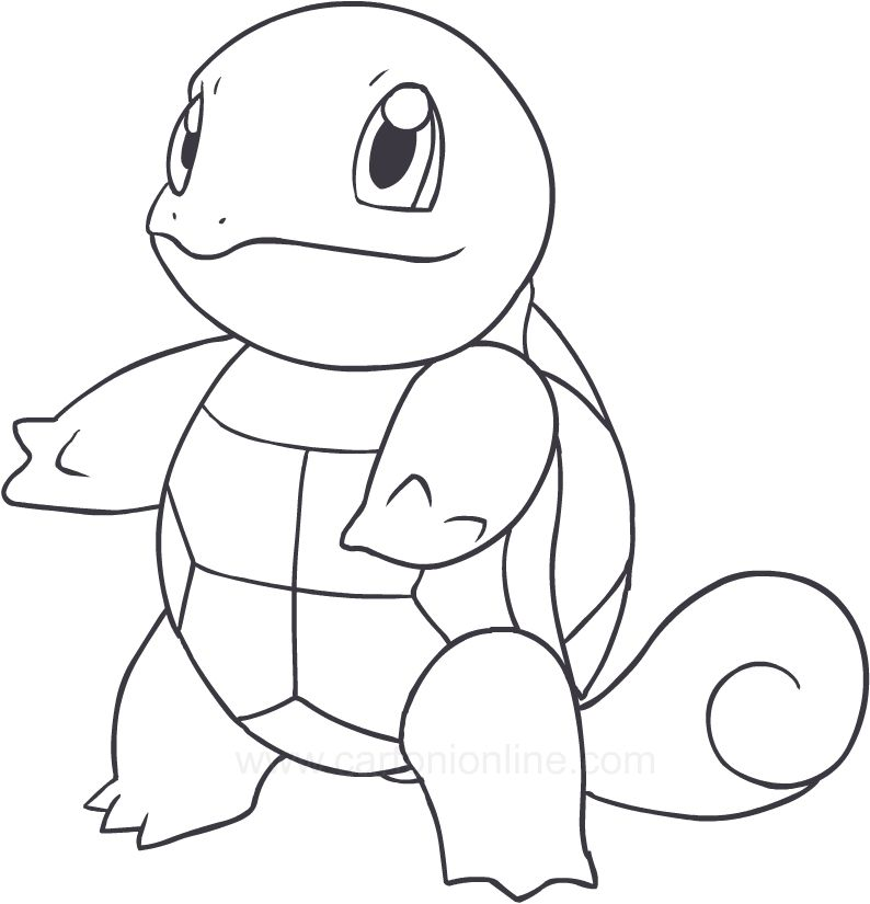 Squirtle Pokemon Coloring Pages Pokemon Coloring Turtle Coloring Pages