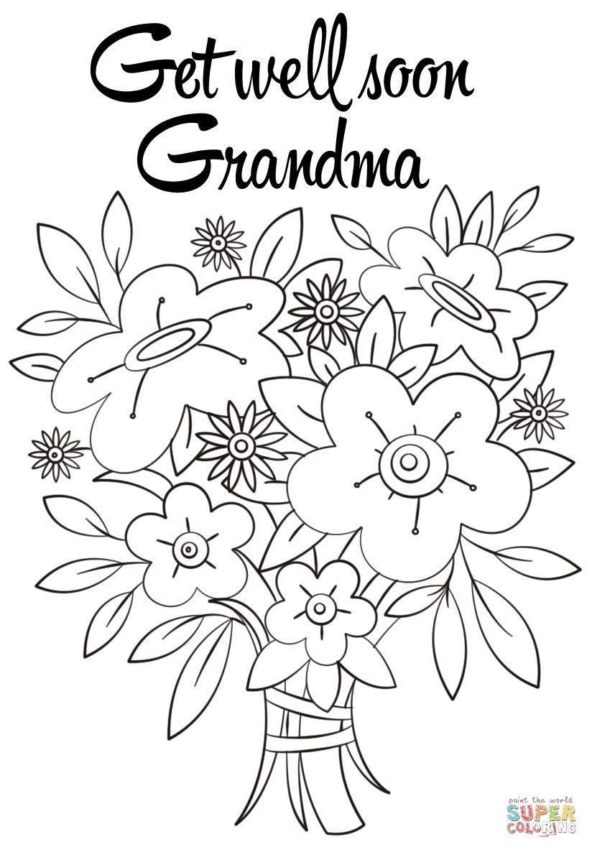 Get Well Soon Grandma Coloring Page Free Printable With Get Well Soon Card Templa Free Printable Birthday Cards Grandma Birthday Card Birthday Card Printable