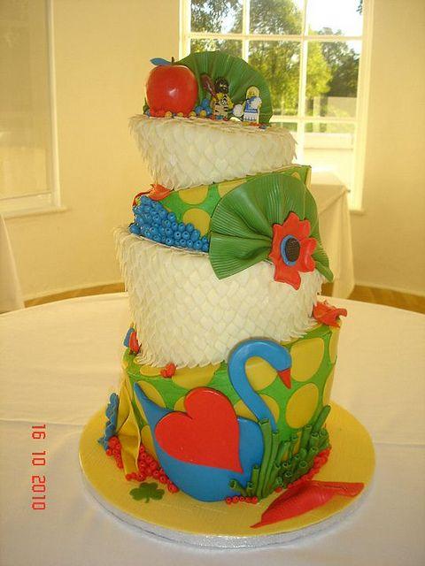Topsy Turvy Lego wedding cake by Love to Cake, via Flickr | Topsy ...