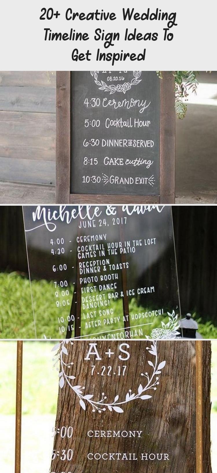 20 Creative Wedding Timeline Sign Ideas To Get Inspired In 2020 Wedding Timeline Rustic Wedding Outdoor Wedding