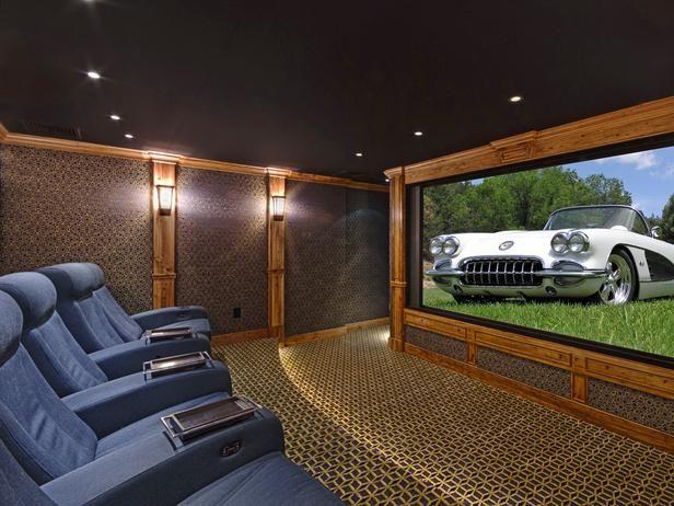 This Space Used To Be A Single Car Garage! U003eu003e Http:/. Home TheatreTheatre  RoomsTheatre DesignWaterbedHidden ...