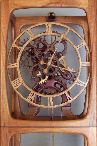 Open Frame Wood Clock Style By Gary Johnson Wooden