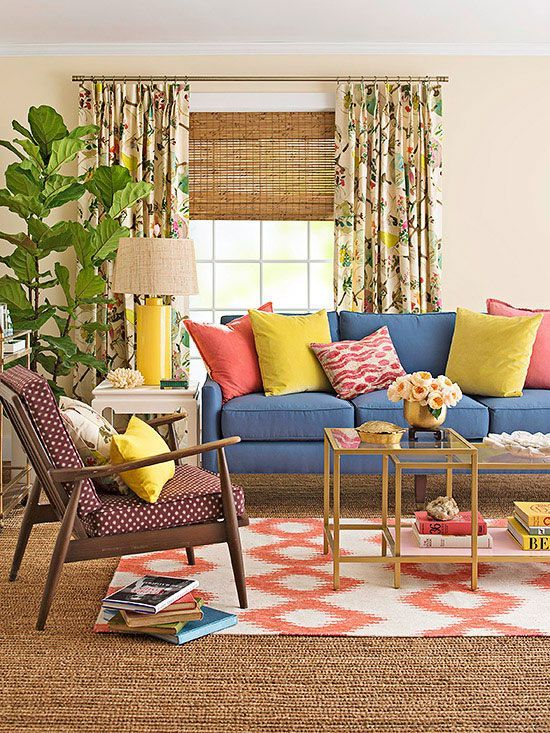 A Living Room with Layers of Color