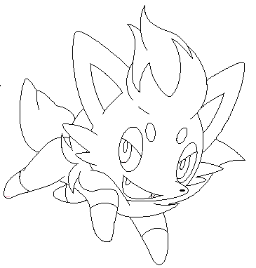 Zorua Lineart3 By Michy123 On Deviantart Pokemon Deviantart