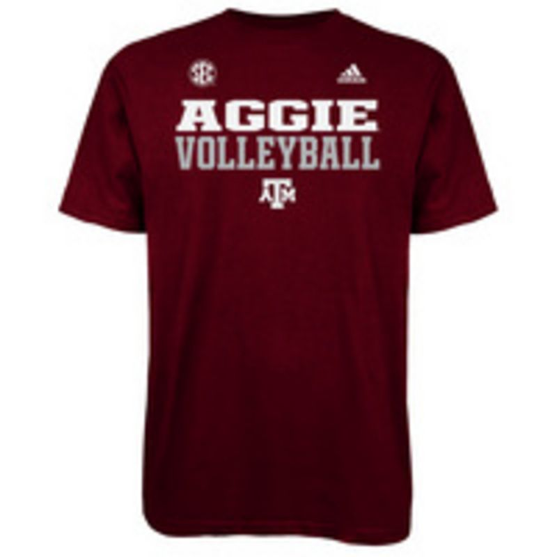 3ad9d05e7988b College Depot | Adidas Aggie Volleyball Shirt | Aggie T-Shirts ...