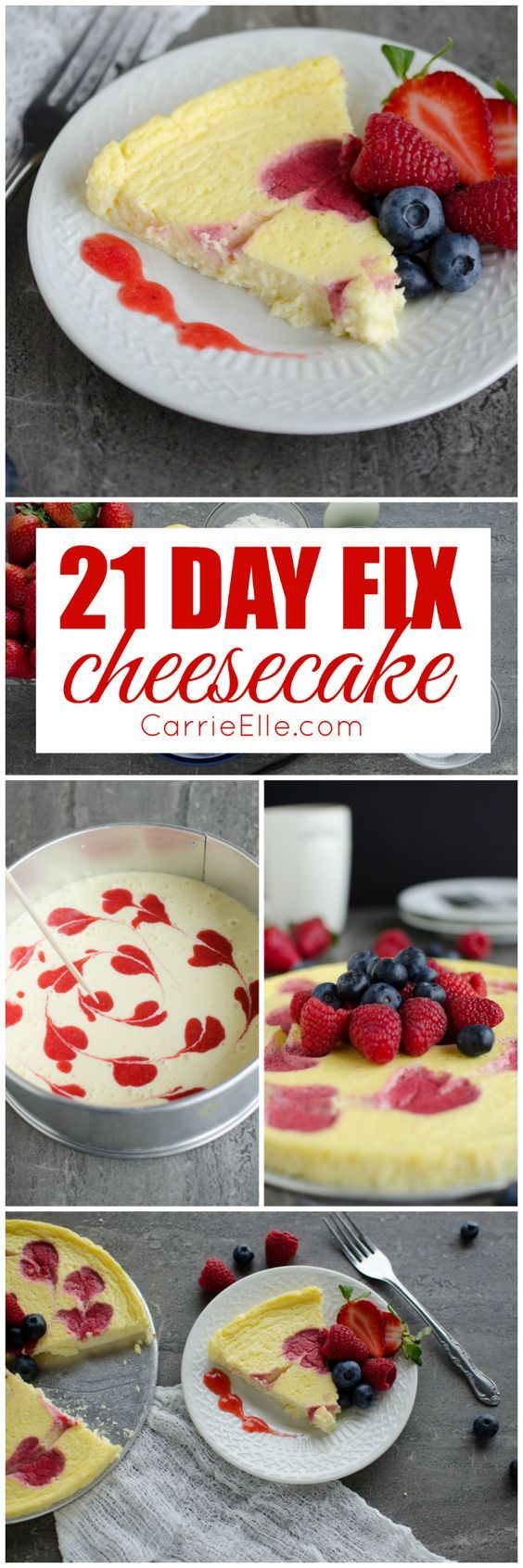 This 21 Day Fix cheesecake recipe is perfect when you want to indulge guilt-free. Change it up by switching out the fruit!
