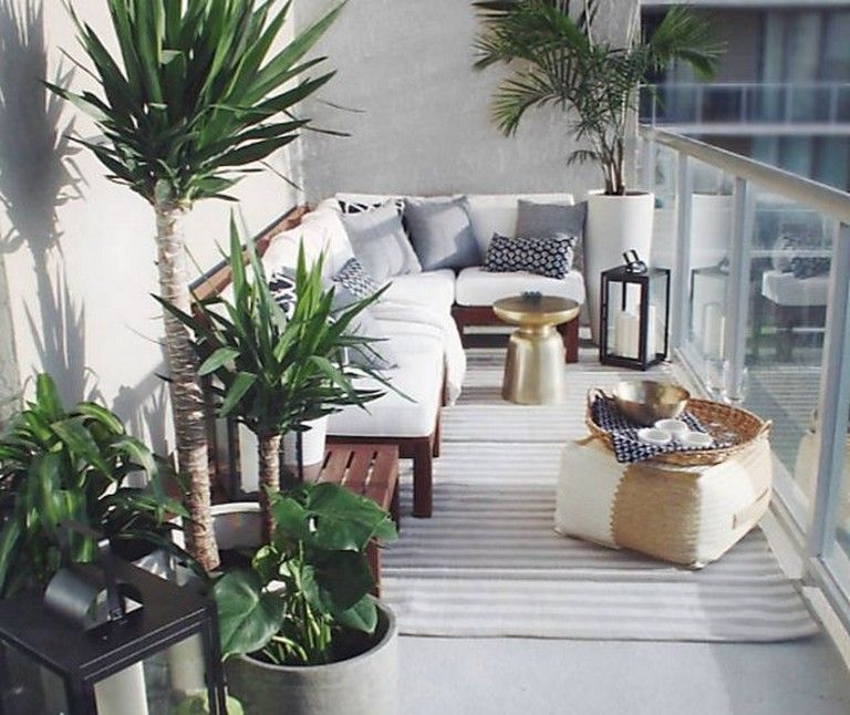75 Beautiful Apartment Balcony Decorating Ideas on A Budget #smallbalconyfurniture