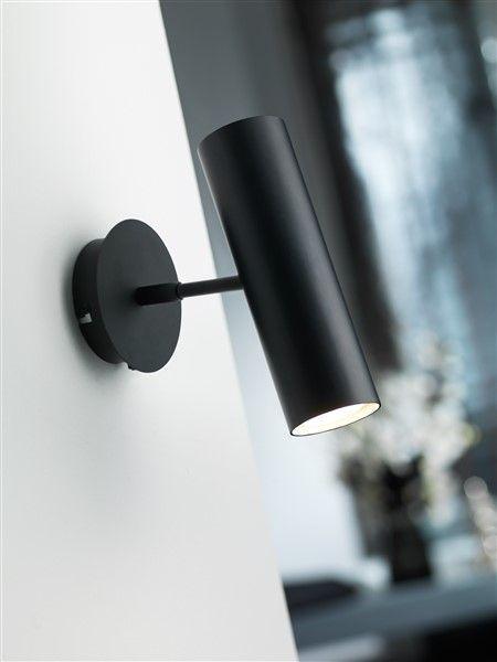 Wandlamp Design Wit Of Zwart Richtbaar Gu10 270mm Hoog